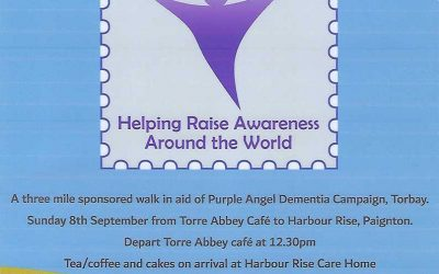 Sponsored walk from Torre Abbey to Harbour Rise on Sunday 8th September