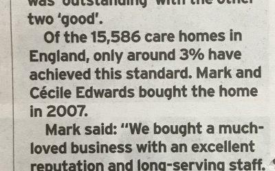 Care home celebrates rating in top 3% in UK